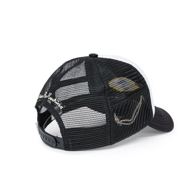 Deus Ex Machina Diamond Trucker Cap - Black/White Back