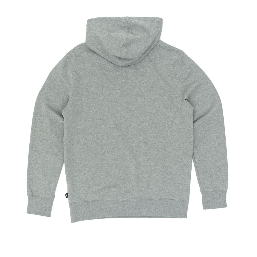 Huf Original Logo Pullover Hooded Sweatshirt - Heather Grey