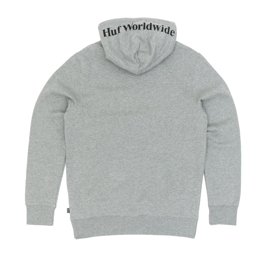 Huf Box Logo Pullover Hooded Sweatshirt - Heather Grey Front