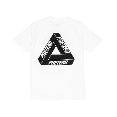 Pretend Triangle T-Shirt - White