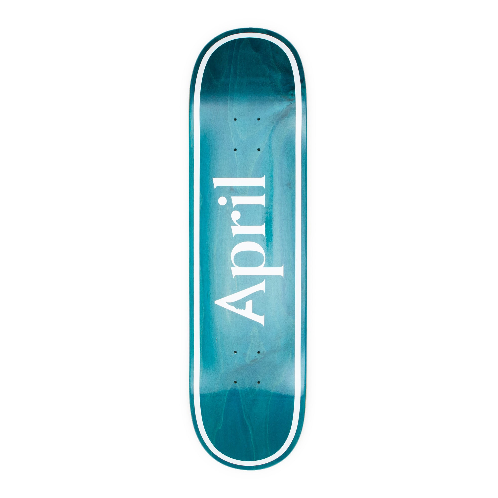 April OG Logo Invert Mint Deck - 8.0""