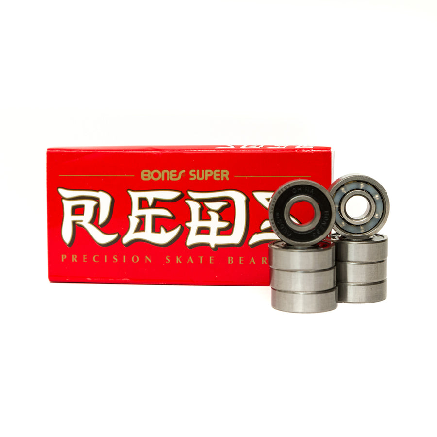 Bones Super Reds Skateboard Bearings 8 Pack - Pretend Supply Co