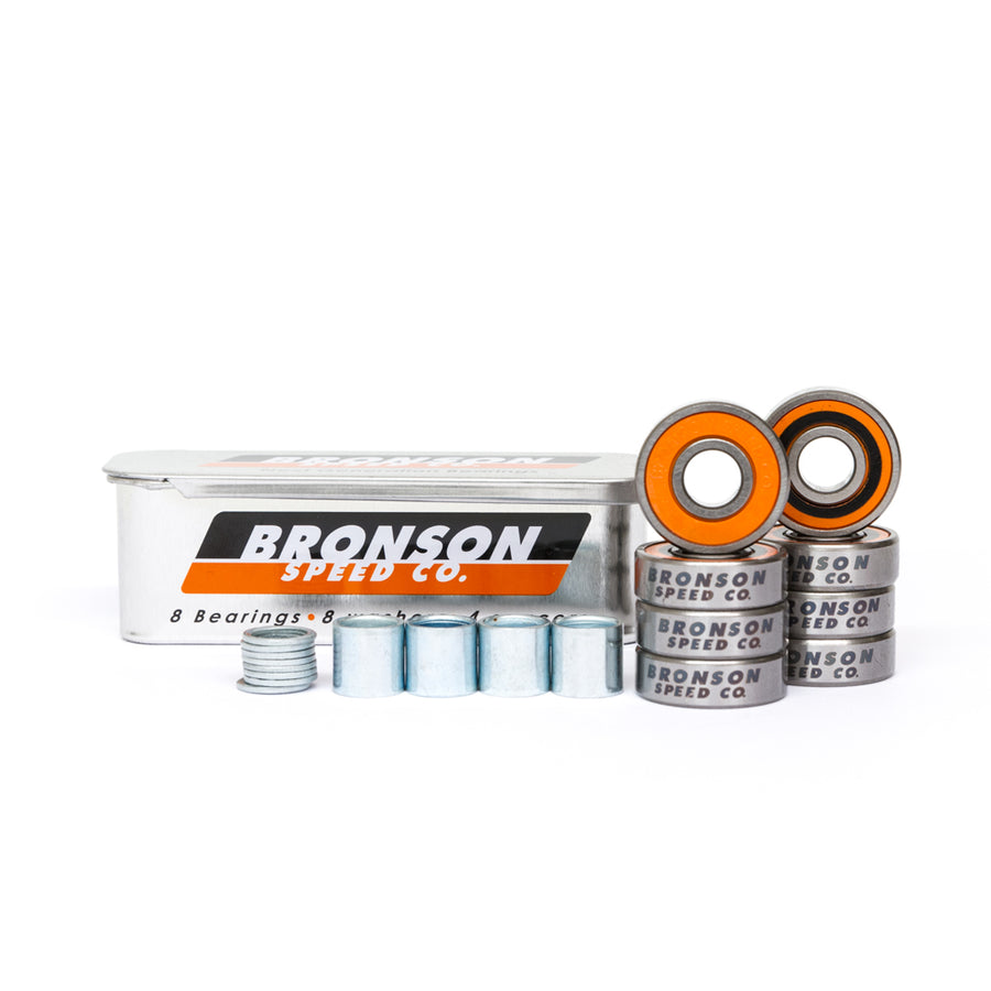 Bronson G3 Skateboard Bearings 8 Pack - Pretend Supply Co