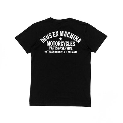 Deus Ex Machina Milano Address T-Shirt - Black - Pretend Supply Co