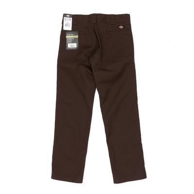 Dickies WP873 Slim Straight Work Pant - Chocolate Brown Back