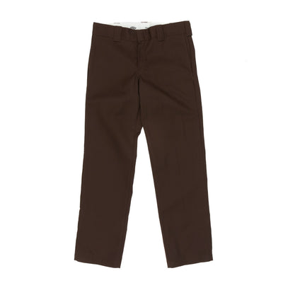Dickies WP873 Slim Straight Work Pant - Chocolate Brown Front