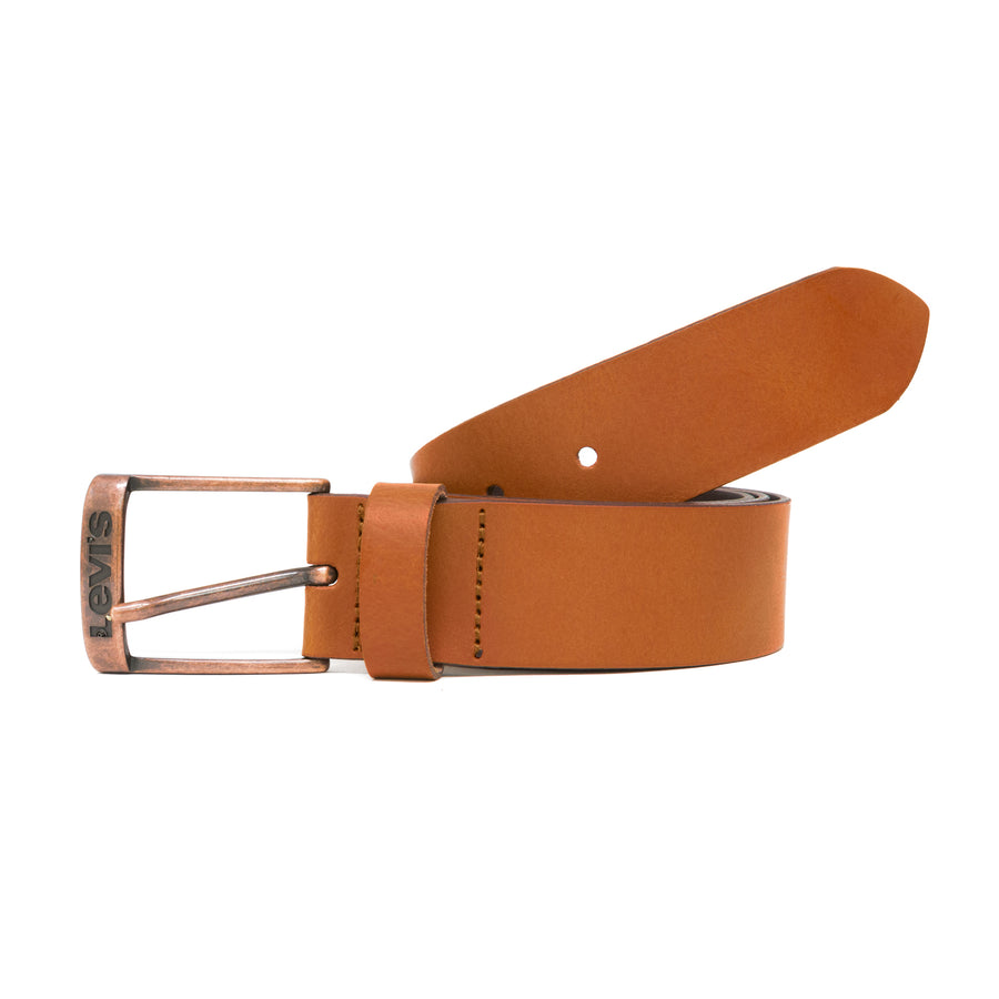 Levis New Duncan Leather Belt - Medium Brown