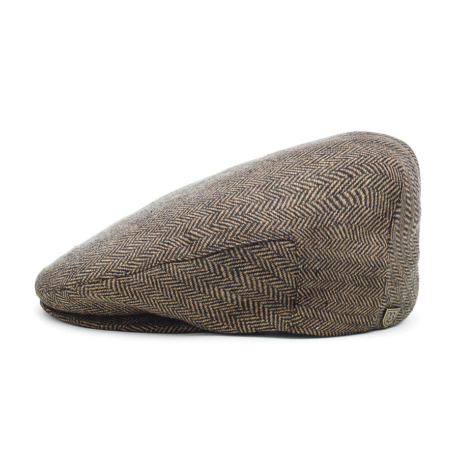 Brixton Hooligan Flat Cap - Brown/Khaki
