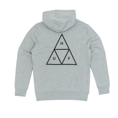 Huf Triple Triangle Pullover Hooded Sweatshirt - Grey Heather back