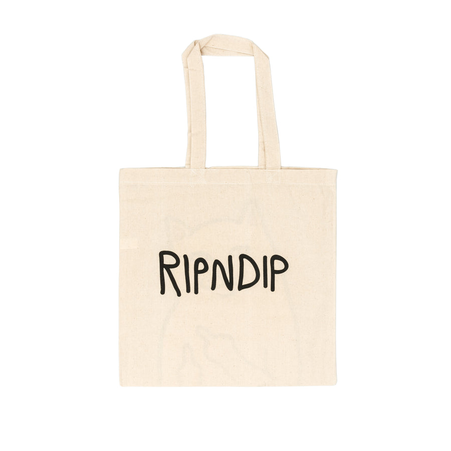Rip N Dip OG Lord Nermal Tote Bag - Natural Brown