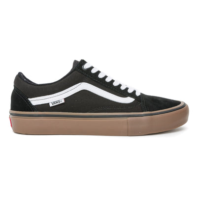 Vans Old Skool Pro Shoes - Black/White/Gum Side