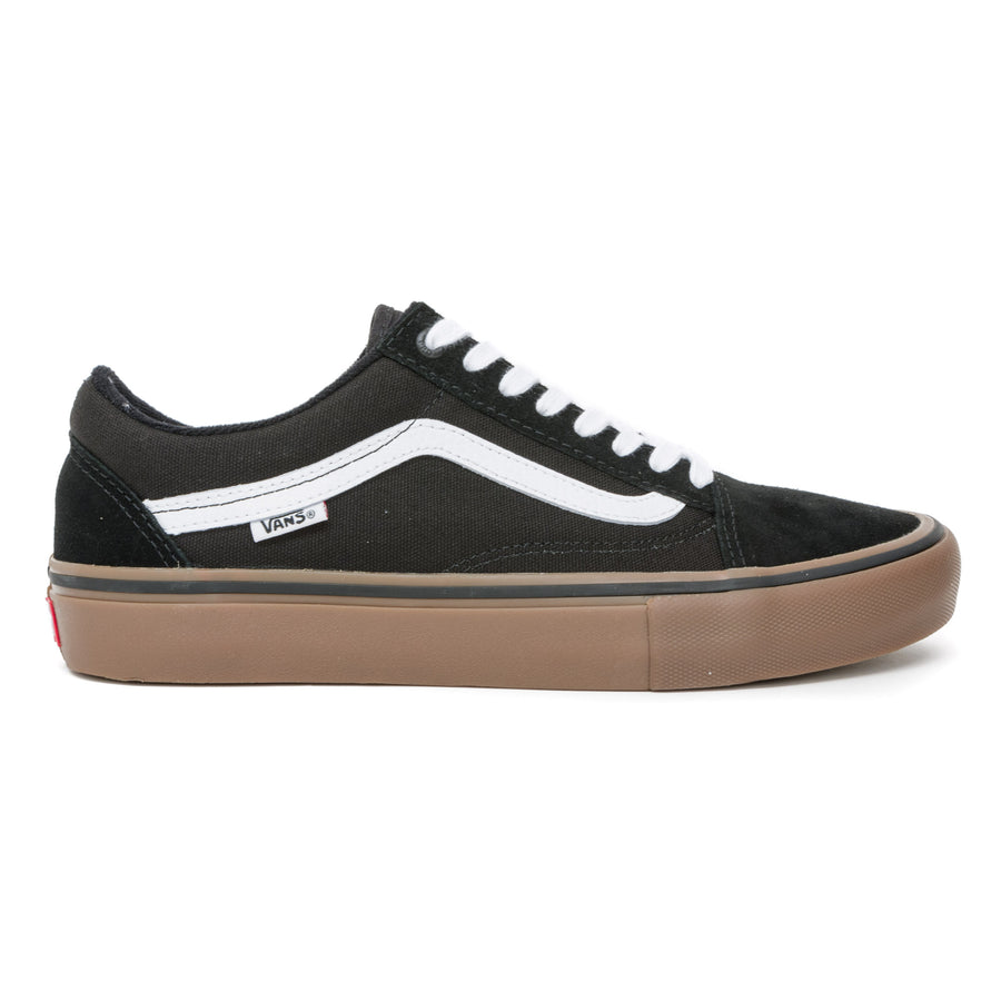 Vans Old Skool Pro Shoes - Black/White/Gum Pair