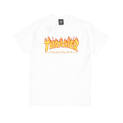 Thrasher Flame Logo T-Shirt - White - Pretend Supply Co