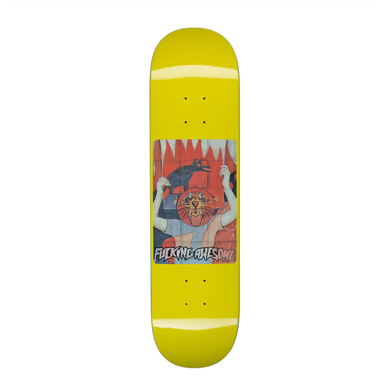 Fucking Awesome Tiger Yellow Deck - 8.0""