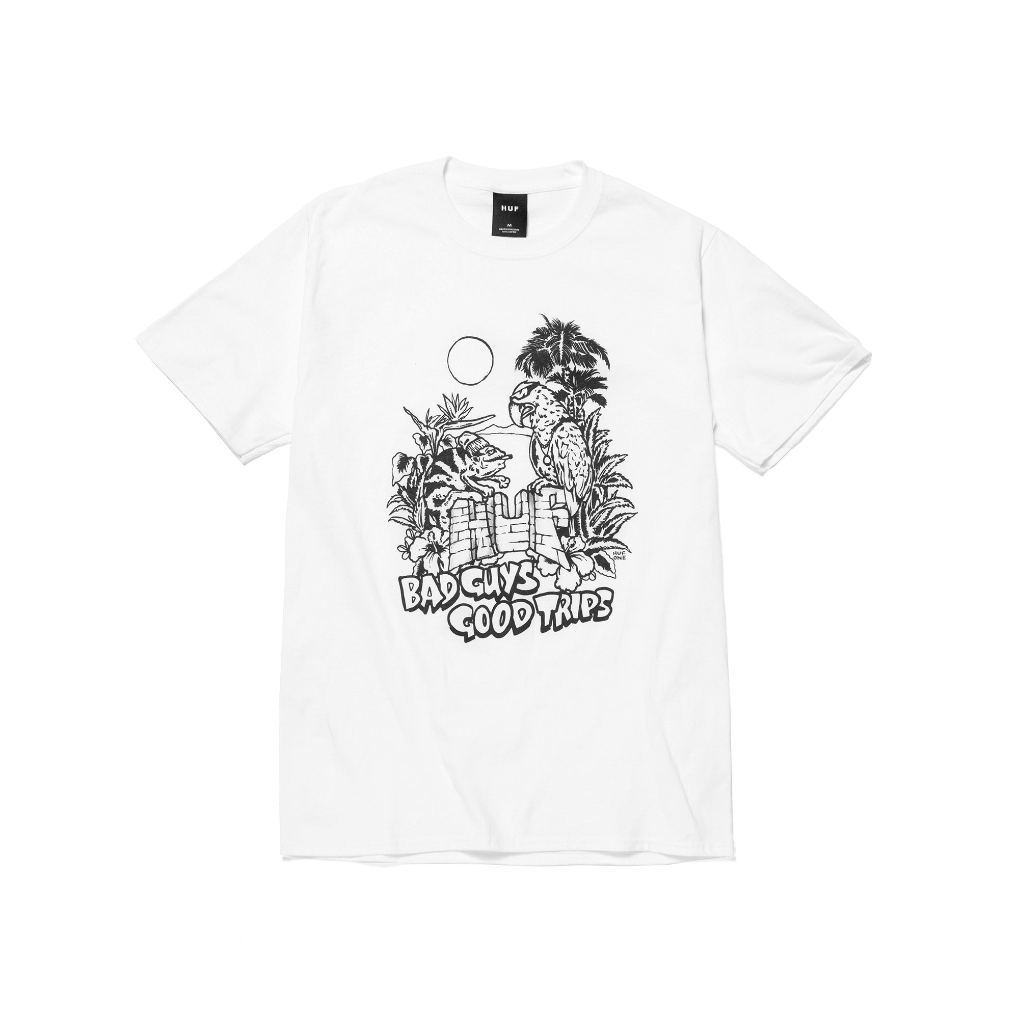 Huf Vacation UV T-Shirt - White