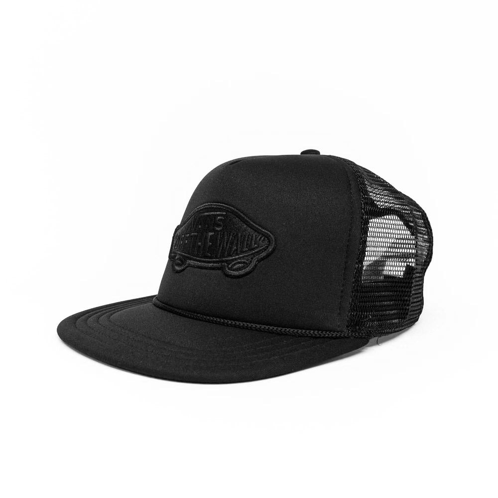 35ed40d463f Vans Classic Patch Trucker Cap - Black Black - Pretend Supply Co