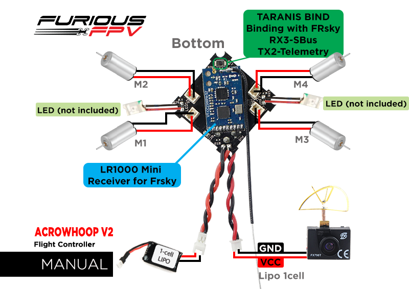 Furiousfpv Acrowhoop V2 Flight Controller  U2013 Skywardrc Com