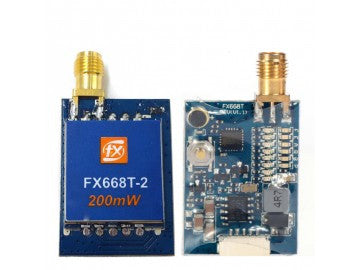 FX668T Mini 200mW 5.8GHz 40CH FPV Video Transmitter w/Power Button