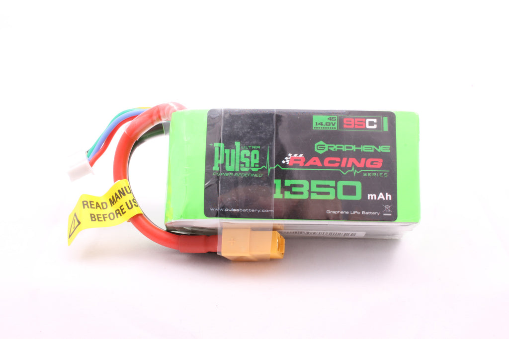 PULSE Graphene 1350mAh 4S 14.8V 95C Battery w / XT60