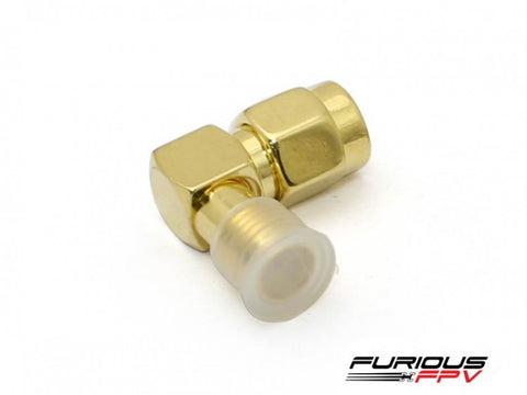 FuriousFPV SMA 90 Degree Adapter - SMA Male to SMA Female
