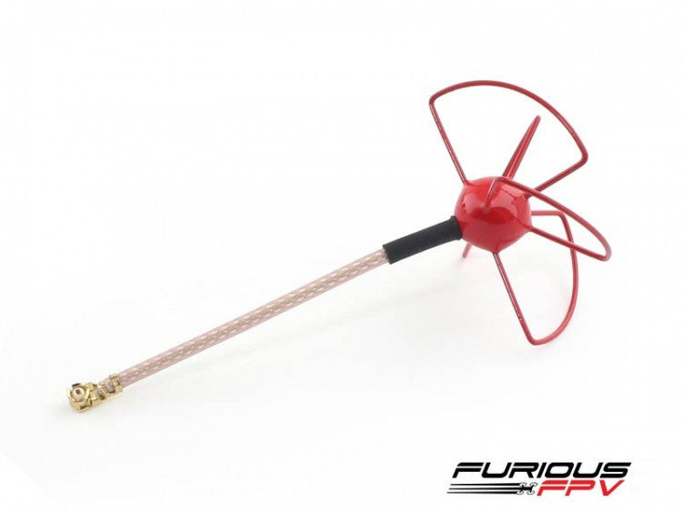 FuriousFPV Micro U.FL Antenna - LHCP (Red)