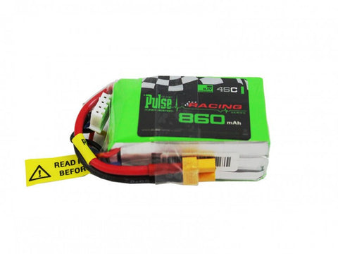 PULSE 860mah 3S 11.1V 45C (XT30 plug) - FPV Racing series - LiPo Battery