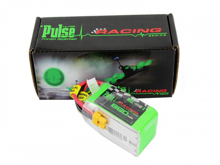 PULSE 860 mAh 4S 14.8V 45C (XT30) - 130 Sized FPV Racing Series - LiPo Battery