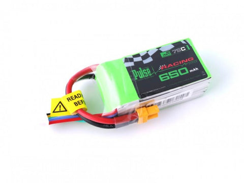 PULSE 650mAh 4S 14.8V 75C - LiPo Battery (XT30)