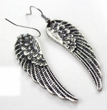 Antique Silver Angel Wing Earrings 3-5 DAY SHIPPING