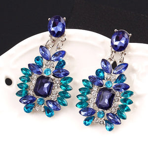 Bohemian Colored Crystal Drop Dangle Earrings 3-5 DAY SHIPPING