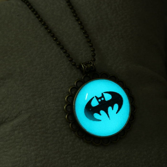 Glow in the Dark Bat Pendant 3-5 DAYS SHIPPING