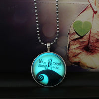 Halloween Glow in the Dark Necklace Pendant  3-5 DAYS SHIPPING