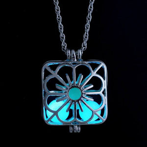 Glow in The Dark Flower Hollow Pendant  3-5 DAYS SHIPPING