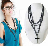 Multi Layer Wooden Cross Necklace  3-5 DAYS SHIPPING
