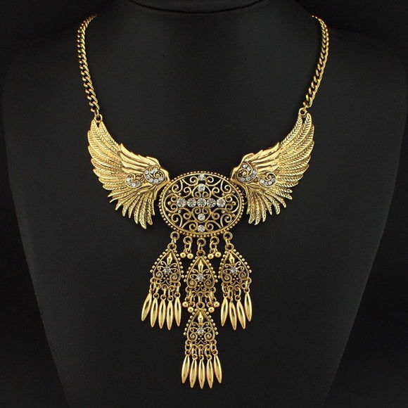 Angel Wings Statement Necklace 3-5 DAY SHIPPING