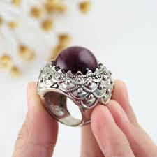 Beautiful Dark Purple Statement Ring 3-5 DAY SHIPPING