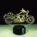 Motorcycle 3D LED Remote Controlled Color Changing Light