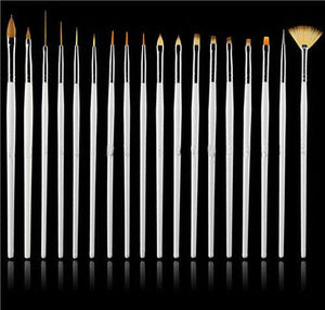Hot 15pc Nail Art UV Gel Design Brush Set Painting Pen Manicure Tips Tools 3-5 DAYS SHIPPING