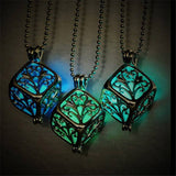 Vintage Glow In The Dark Hollow Magic Tree of Life Necklace Pendant  3-5 DAYS SHIPPING