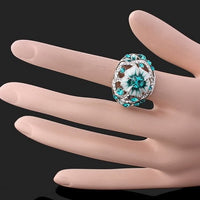 Hollowed Out Flower Ring  3-5 DAYS SHIPPING