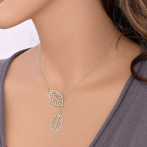 Two Leaf Necklace & Earrings Set  3-5 DAYS SHIPPING