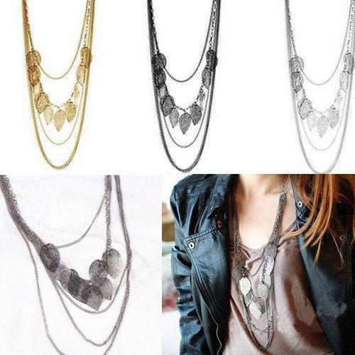 Bohemia Stray Leaves Multilayered Necklace 3-5 DAY SHIPPING