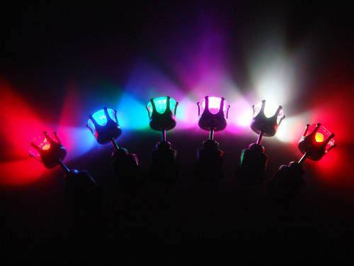 One Pair Rainbow Led Blinking Light Earring Studs  3-5 DAYS SHIPPING