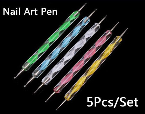 Professional 5 Piece Nail Art Dotting Pens  3-5 DAYS SHIPPING