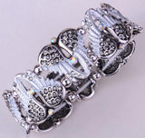 Rhinestone Angel Wing Stretchable Bracelet