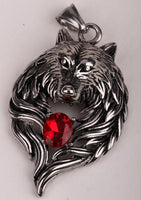 Big Wolf Stainless Steel Pendant Necklace