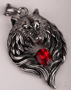 Heavy Duty Wolf Stainless Steel Pendant/Necklace