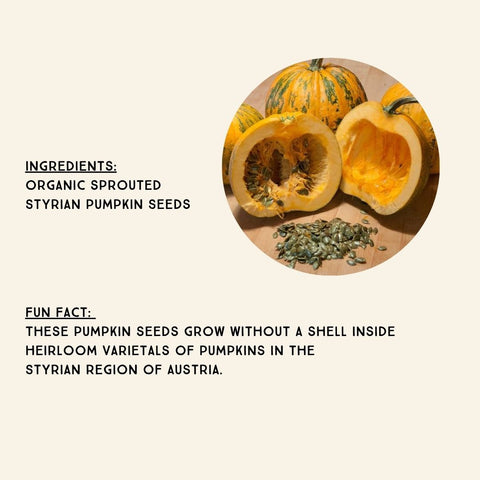 Organic Sprouted Styrian Pumpkin Seeds