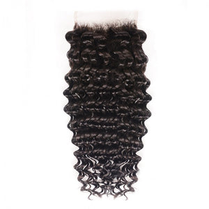Virgin Peruvian Deep wave swiss Lace Closure