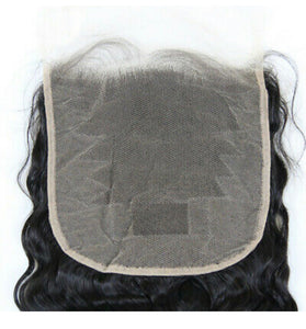 Virgin Cambodian Deep wave swiss Lace Closure